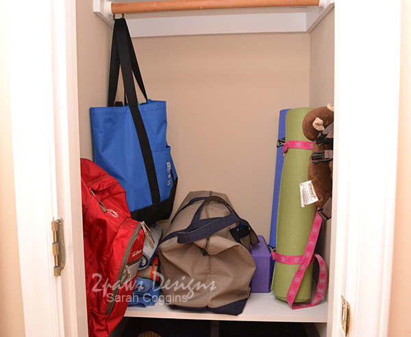 Small Coat Closet Makeover: Middle
