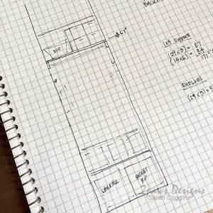 Small Coat Closet Makeover: Plan Sketch