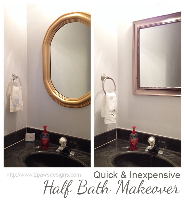1980s Half Bathroom Makeover: Before & After
