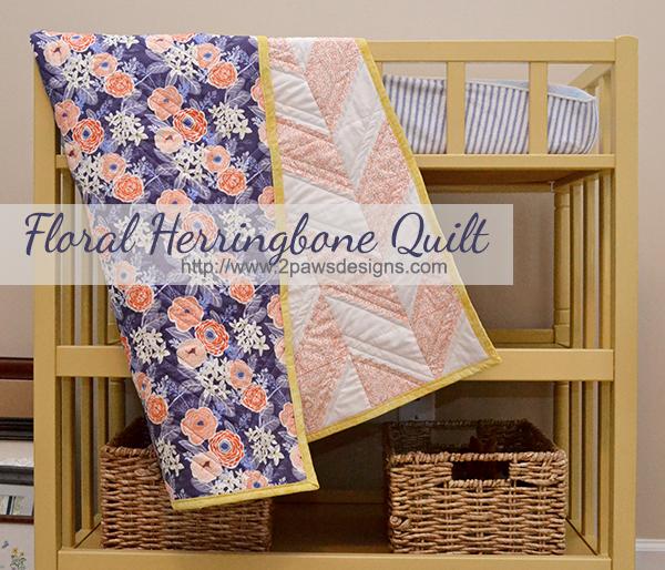 Floral Herringbone Quilt