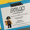 Lego Pirate Party Invitations