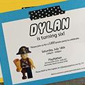 Lego Pirate Party Invitations