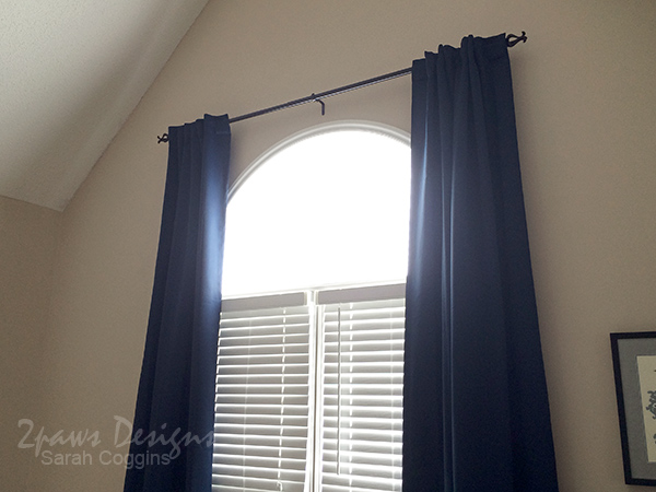 Master Bedroom Curtains for Arch Window