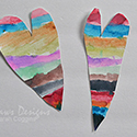 Rainbow Painted Valentines