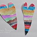 Rainbow Painted Valentines