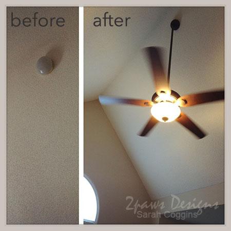 Year 2: Master Bedroom Ceiling Fan Light Combo