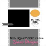 2paws Designs: Biggest Pumpkin template