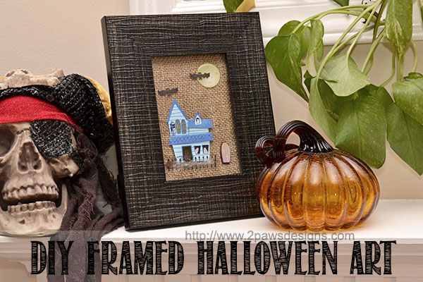 DIY Framed Halloween Art