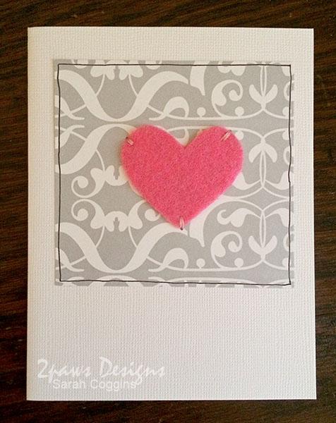 Anniversary Card: Pink Heart