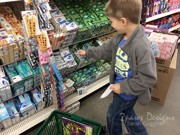 Shopping for items for our Operation Christmas Child shoebox