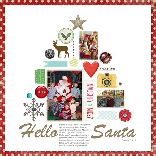 Hello, Santa digital scrapbook page