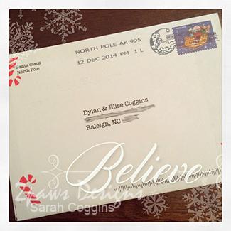Letter from Santa: Believe