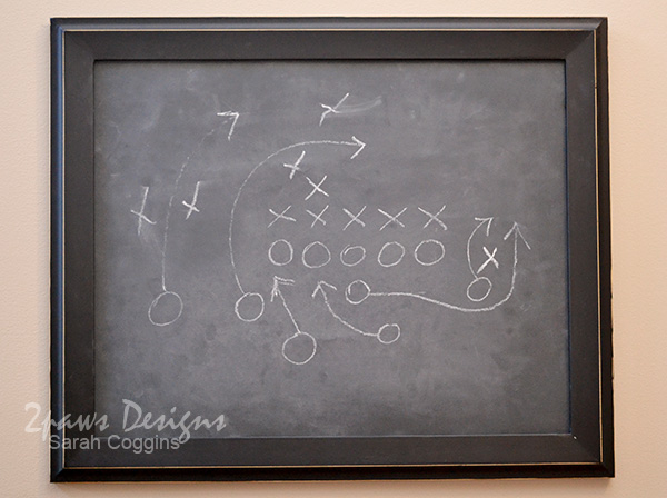One of a Kind Chalkboard Football Decor
