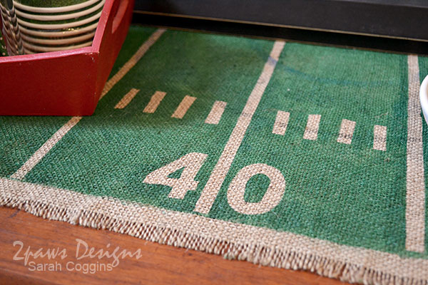 Table Runner Football Decor