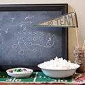 DIY Football Play Chalkboard