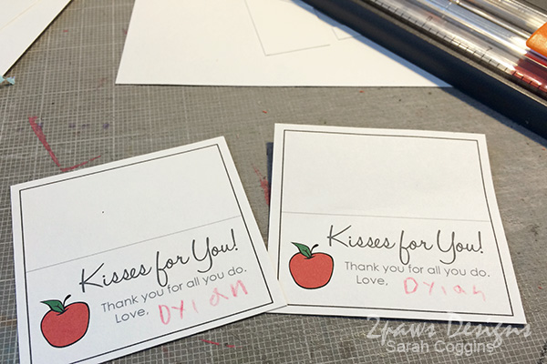 Teacher Appreciation Kisses & Free Printable