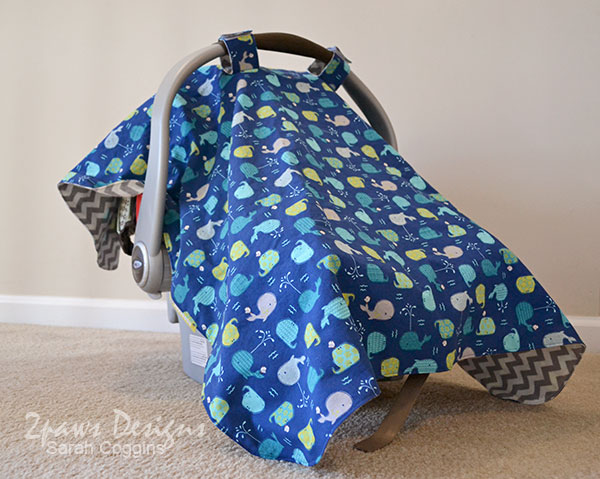 Enjoyable Whale Infant Car Seat Cover 2Paws Designs Gmtry Best Dining Table And Chair Ideas Images Gmtryco
