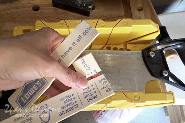 DIY Established Sign: Cut Paint Stick