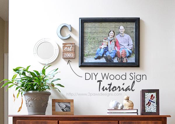 DIY Established Wood Sign Tutorial - How I created a custom decor wood sign for free.