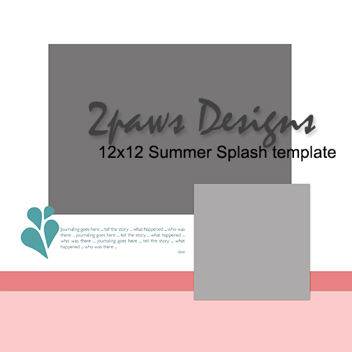 2pawsDesigns Summer Splash digital template