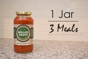 1 Jar, 3 Meals with Nello's Sauce