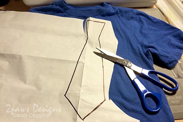 15 Minute (no sew!) DIY Necktie Tee: Design