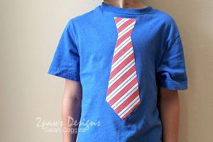 15 Minute (no sew!) DIY Necktie Tee