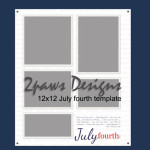 2paws Designs: July fourth 12x12 digital scrapbook template