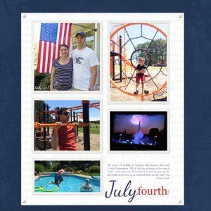 July 4th 2014 digital scrapbook page