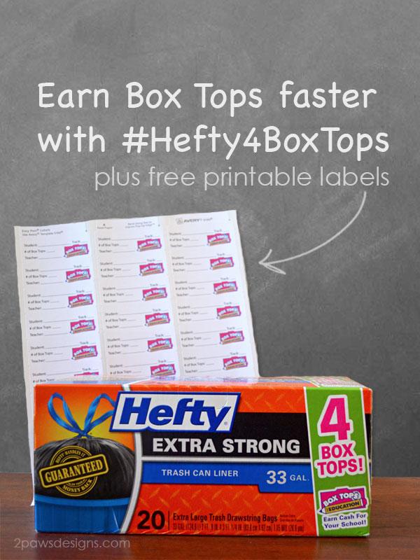 Hefty 4 Box Tops #Hefty4BoxTops
