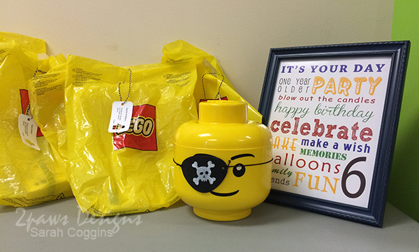 Lego Pirate Party: Goody Bags & Subway Art