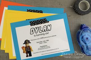 Lego Pirate Party: Invitations
