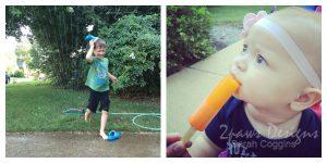 Summer in the Moment: Sprinkler & Popsicles