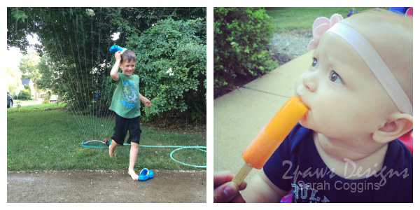 Summer in the Moment: Sprinkler & Popsicles