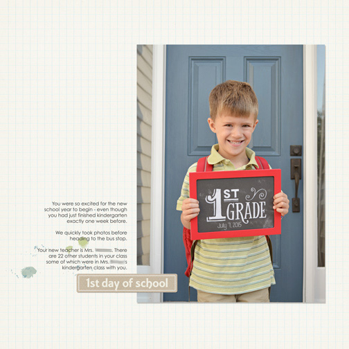 Back to School 2015: First Day of First Grade