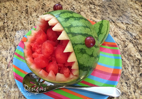 Sharknado Party: Shark Watermelon