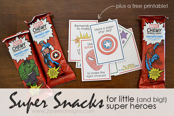 MARVEL Chewy Granola Bars - Super Snacks for Little (and big!) Super Heroes #MARVELSnackBar
