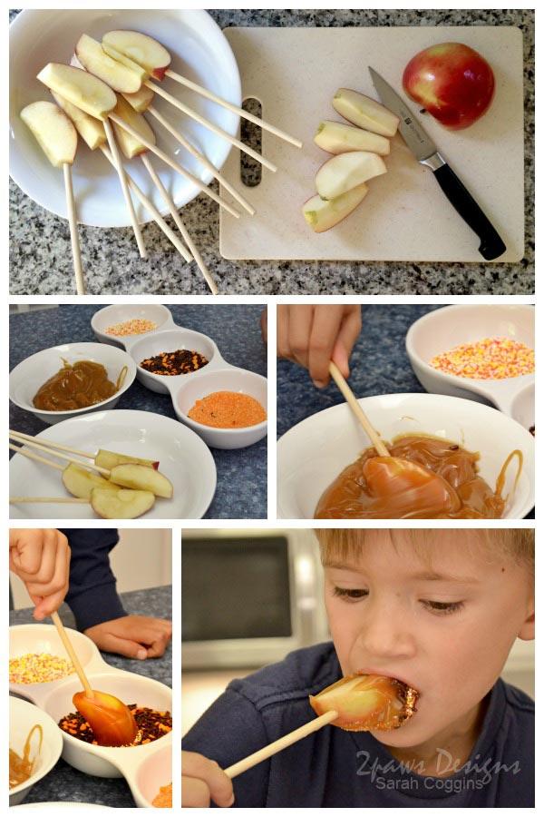 Caramel Apples Collage