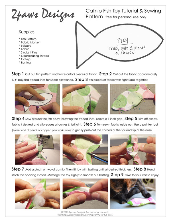 Catnip Fish Toy Tutorial preview