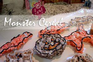 Monster Cereal Treats #SpooktacularSnacks #MonsterCereals