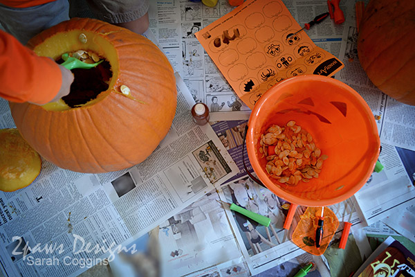 "Pumpkin Palooza: Scooping Pumpkin ""Guts"""