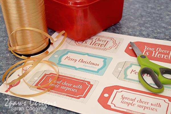 Betty Crocker Spread Cheer gift tags #SpreadCheer #sp