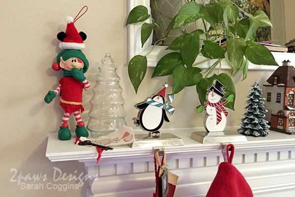 Christmas Elf Idea: Wearing Mickey Mouse Ears