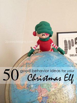 50 good behavior ideas for your Christmas Elf | Christopher Pop-in-Kins | Elf on the Shelf