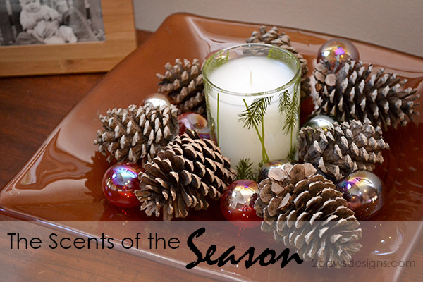 Scents of the Season: Holiday Candle Display #Thymes #FrasierFir #sp