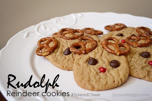 Rudolph Reindeer Cookies recipe #SpreadCheer #sp