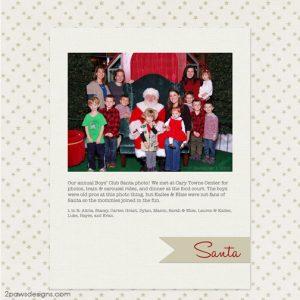 BCC Santa Photo 2015 digital scrapbooking page