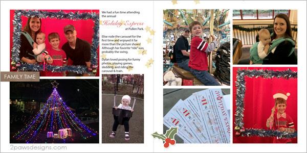 Holiday Express 2015 digital scrapbook page