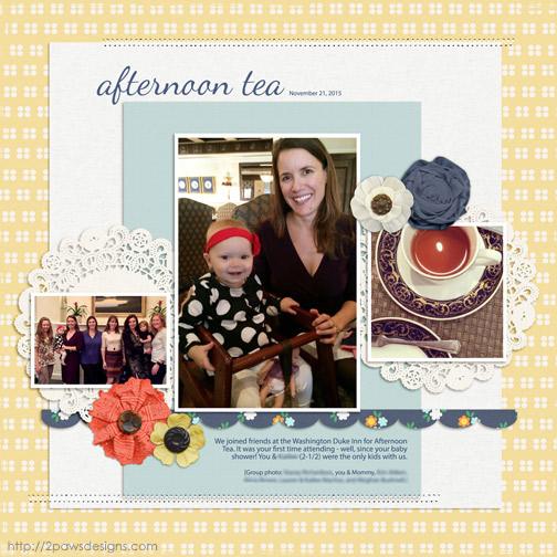 Afternoon Tea digital scrapbook page