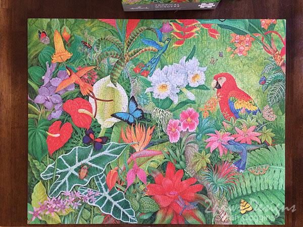 Hallmark Tropical Wonders Puzzle Complete #LoveHallmark
